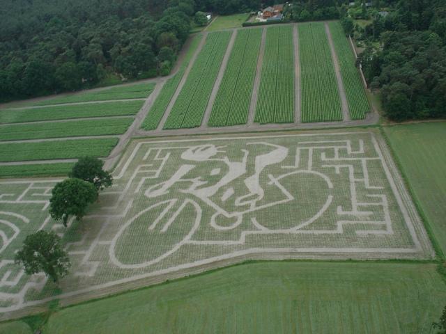 Eerste luchtfoto maisdoolhof 2010